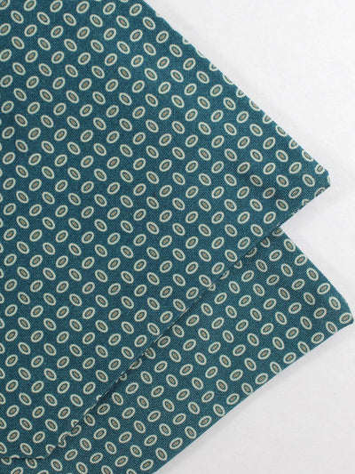Luigi Monaco Ascot Tie Teal Ovals - Hand Made in Italy SALE
