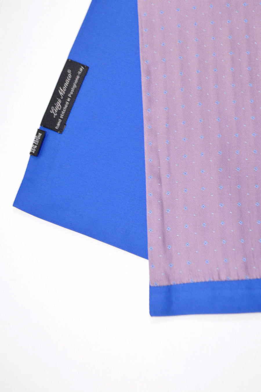 Luigi Monaco Silk Scarf Lilac Royal Blue - Made in Italy FINAL SALE