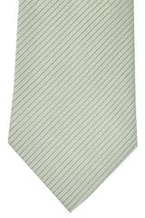 Luigi Monaco Extra Long Tie Silver Gray Stripes