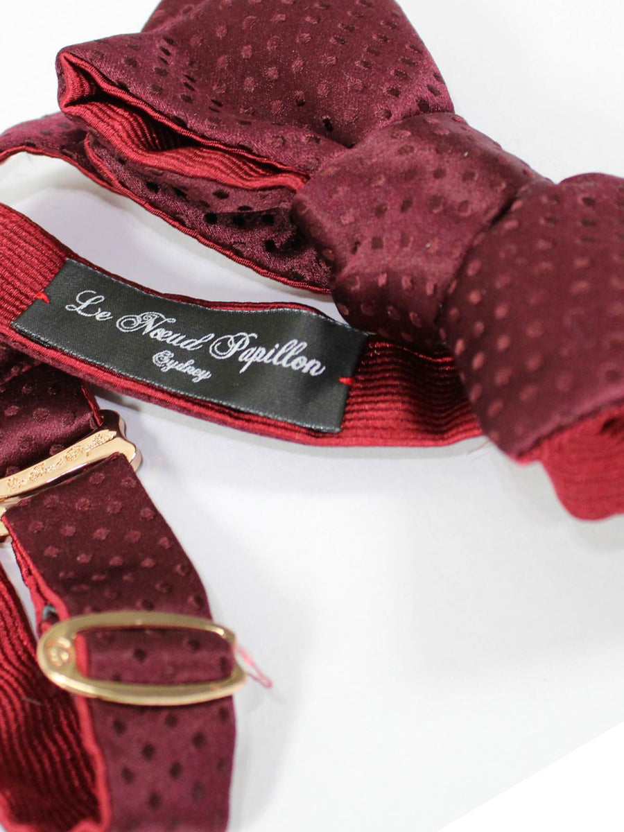 Le Noeud Papillon Bow Tie Burgundy Maroon Tonal Dots - Diamond Point