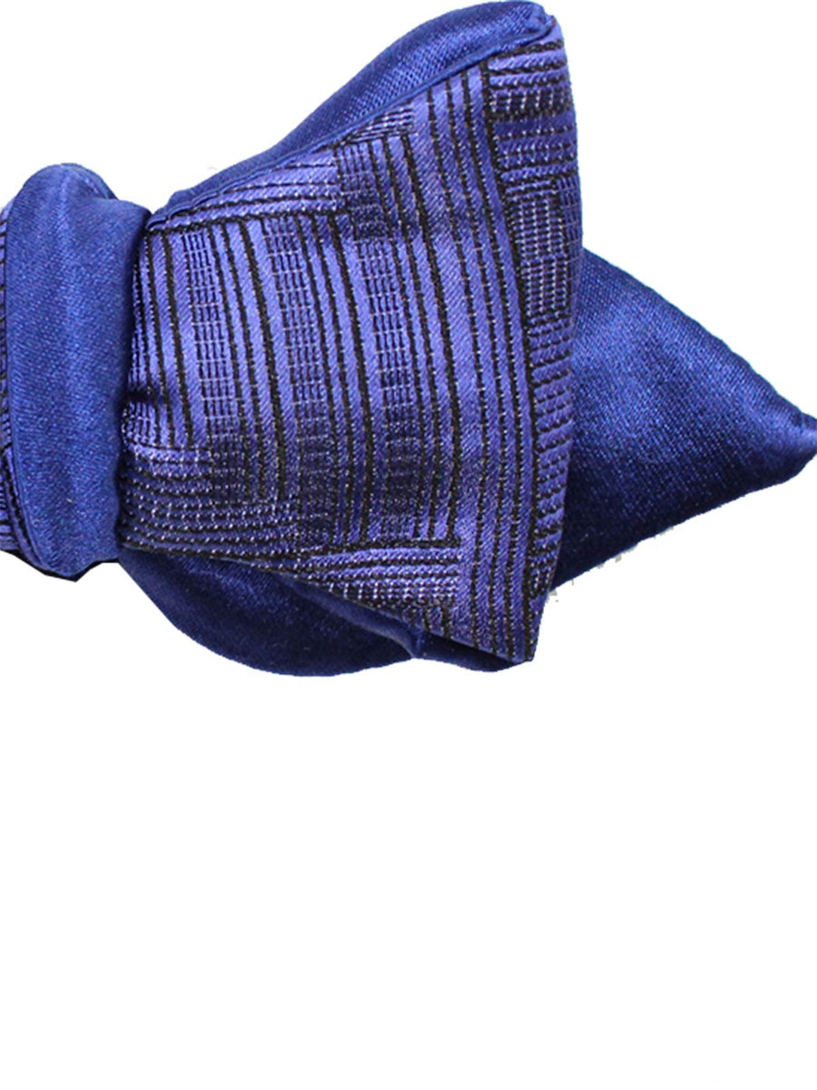 Spade Head Shape Bow Tie Purple Midnight Blue
