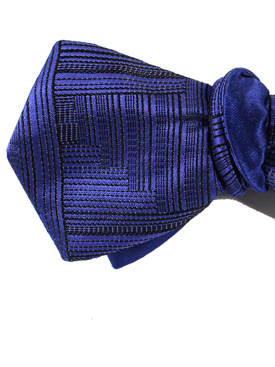 Le Noeud Papillon Bow Tie Purple Midnight Blue Diamond Point