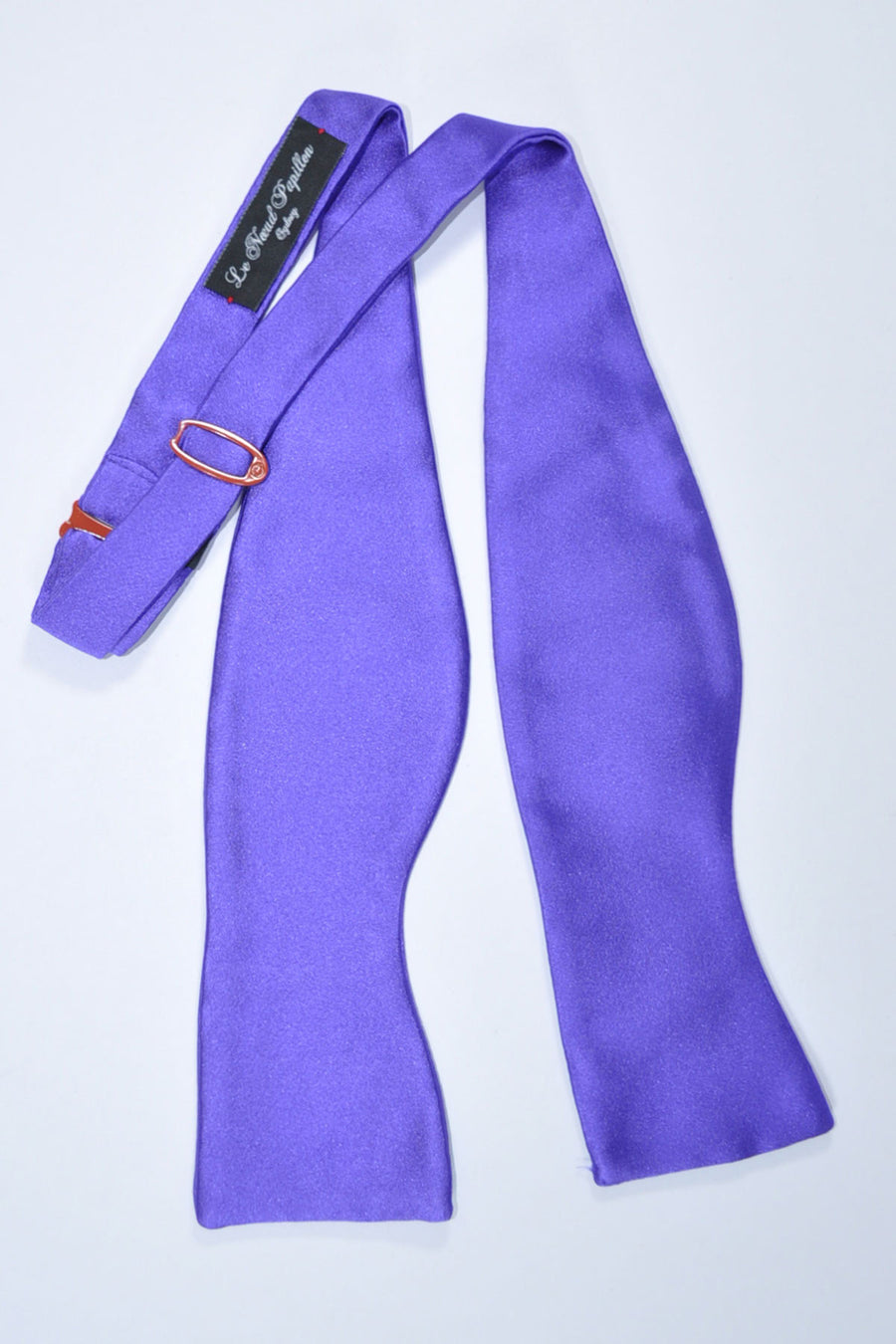 Le Noeud Papillon Silk Bow Tie Solid Purple