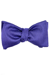 Le Noeud Papillon Silk Bow Tie Purple Design