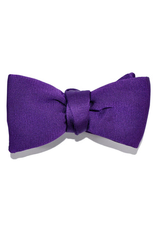 Le Noeud Papillon Silk Bow Tie Solid Purple Prince
