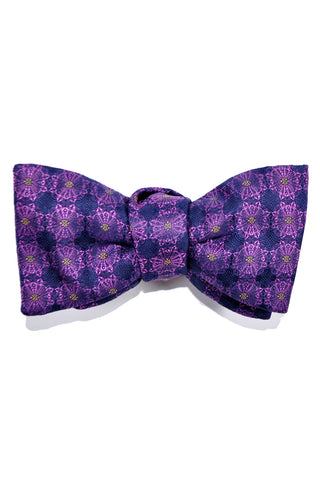 Le Noeud Papillon Bow Tie Purple Geometric
