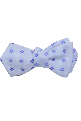 Le Noeud Papillon Bow Tie Sky Blue Lilac Diamond Point Self Tie SALE