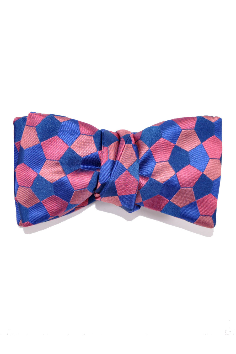 Le Noeud Papillon Bow Tie Pink Blue Geometric Self Tie