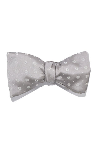Le Noeud Papillon Bow Tie Gray Flowers Self Tie