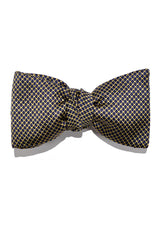 Le Noeud Papillon Bow Tie Dark Navy Gold Self Tie
