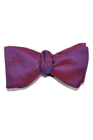 Le Noeud Papillon Bow Tie Burgundy Purple Royal Blue Mini Squares