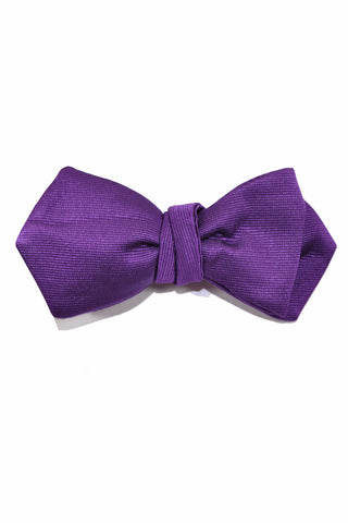 Le Noeud Papillon Bow Tie Solid Purple Diamond Point Self Tie SALE