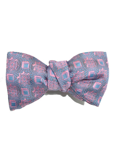 Le Noeud Papillon Silk Bow Tie Lavender Pink Butterfly