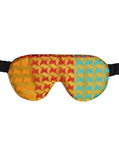 Le Noeud Papillon Silk Eye Shades Yellow-Gold Houndstooth
