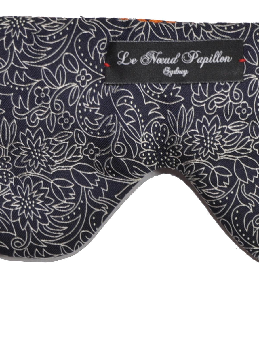 Le Noeud Papillon Silk Eye Shades Dark Blue Floral