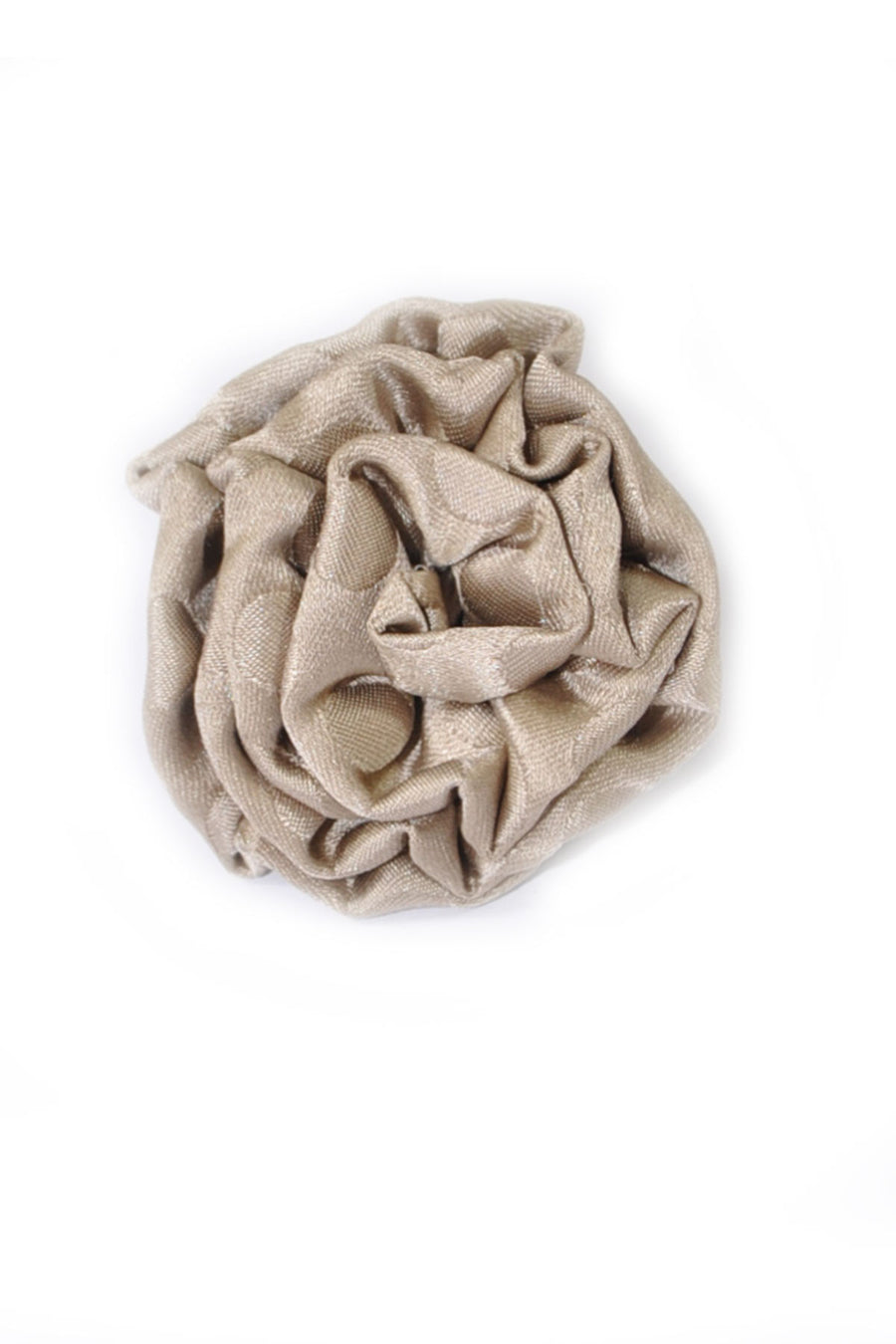 Le Noeud Papillon Silk Lapel Flower Taupe
