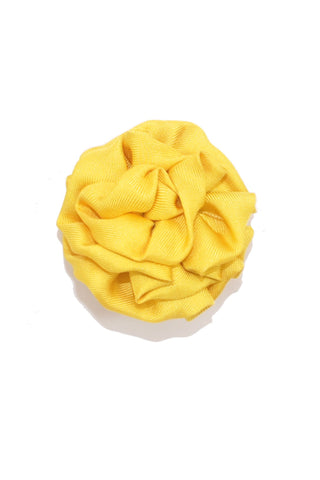 Le Noeud Papillon Silk Lapel Flower Mustard Yellow