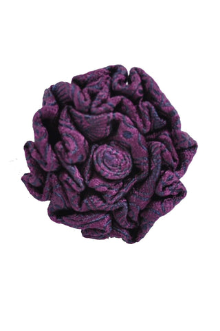 Le Noeud Papillon Silk Lapel Flower Purple Midnight Blue