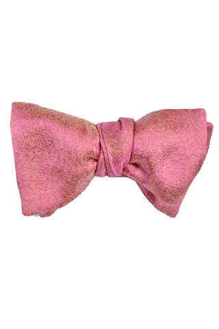 Le Noeud Papillon Bow Tie Pink Gold Butterfly Self Tie