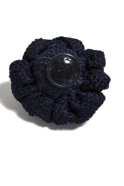 Le Noeud Papillon Silk Lapel Flower Navy