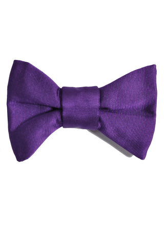 Le Noeud Papillon Bow Tie Solid Purple Grosgrain