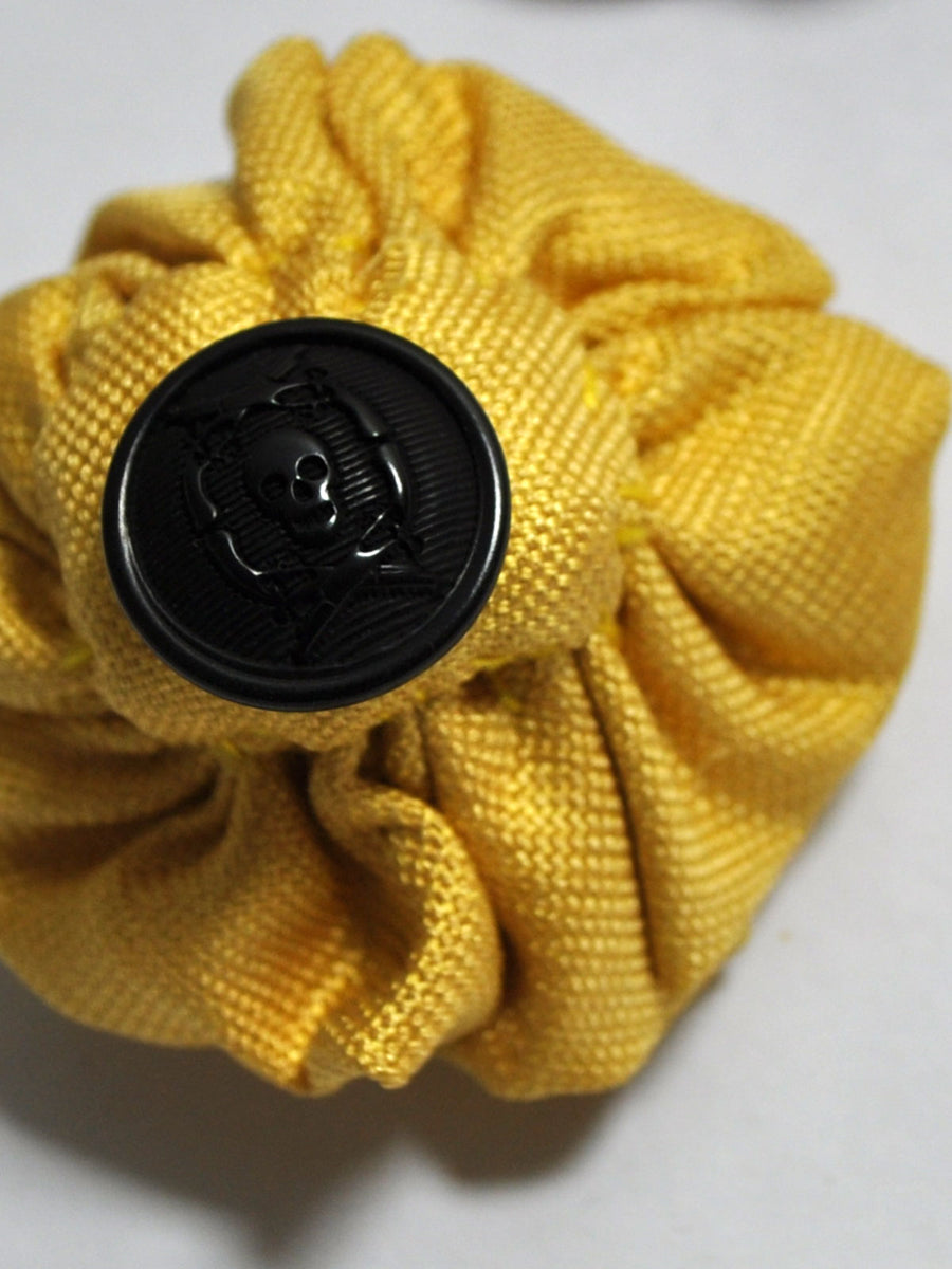 Le Noeud Papillon Silk Lapel Flower Solid Mustard