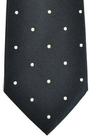 Loro Piana Tie Navy Dots Genuine SALE