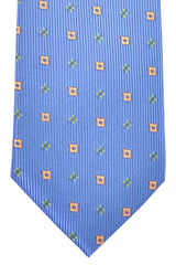 Marinella Tie Blue Green Orange Geometric