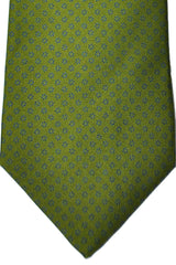 E. Marinella Tie Green Geometric Design - Wide Necktie