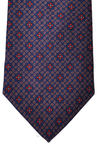 E. Marinella Tie Navy Pink Red Blue Flowers Geometric - Fall/ Winter 2016/ 2017