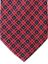 E. Marinella Tie Pink Black Blue Geometric Design - Wide Necktie