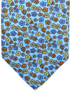 E. Marinella Tie Blue Multicolored Floral Design - Wide Necktie