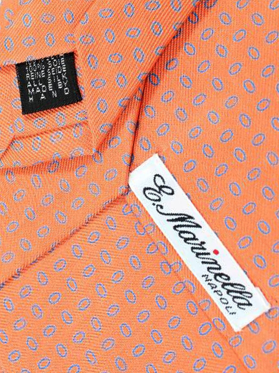 E. Marinella Tie Peach Orange Geometric Design - Wide Tie