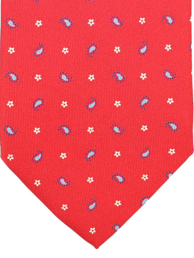 E. Marinella Tie Red Blue White Geometric - Wide Tie