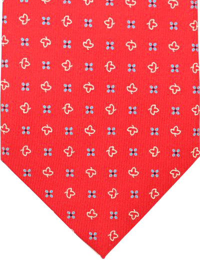 E. Marinella Tie Red Blue White Floral - Wide Tie