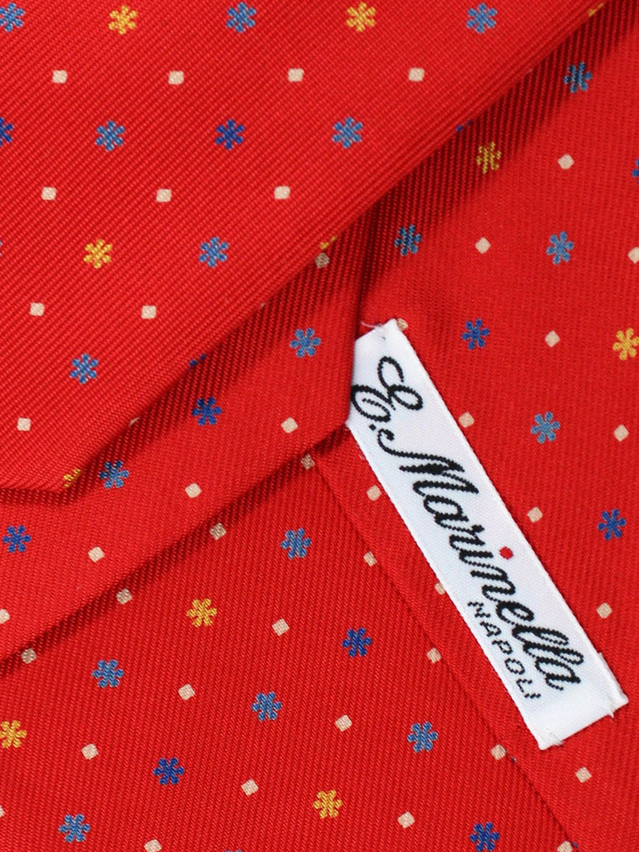 E. Marinella Napoli Tie Red Geometric - Wide Necktie