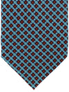 E. Marinella Sevenfold Tie Blue Red Geometric Design