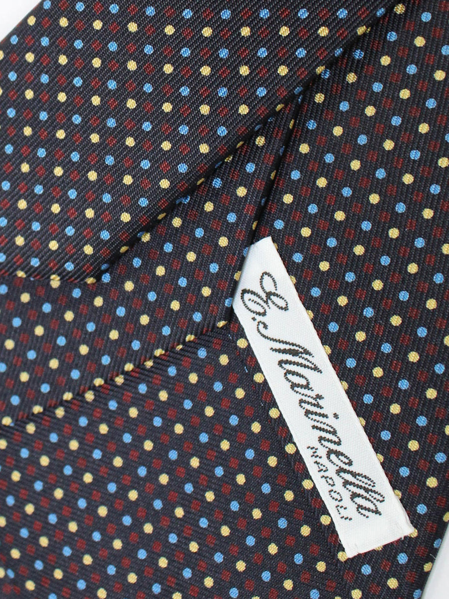 E. Marinella Tie Black Blue Purple Yellow Dots Fall/ Winter 2020 Collection