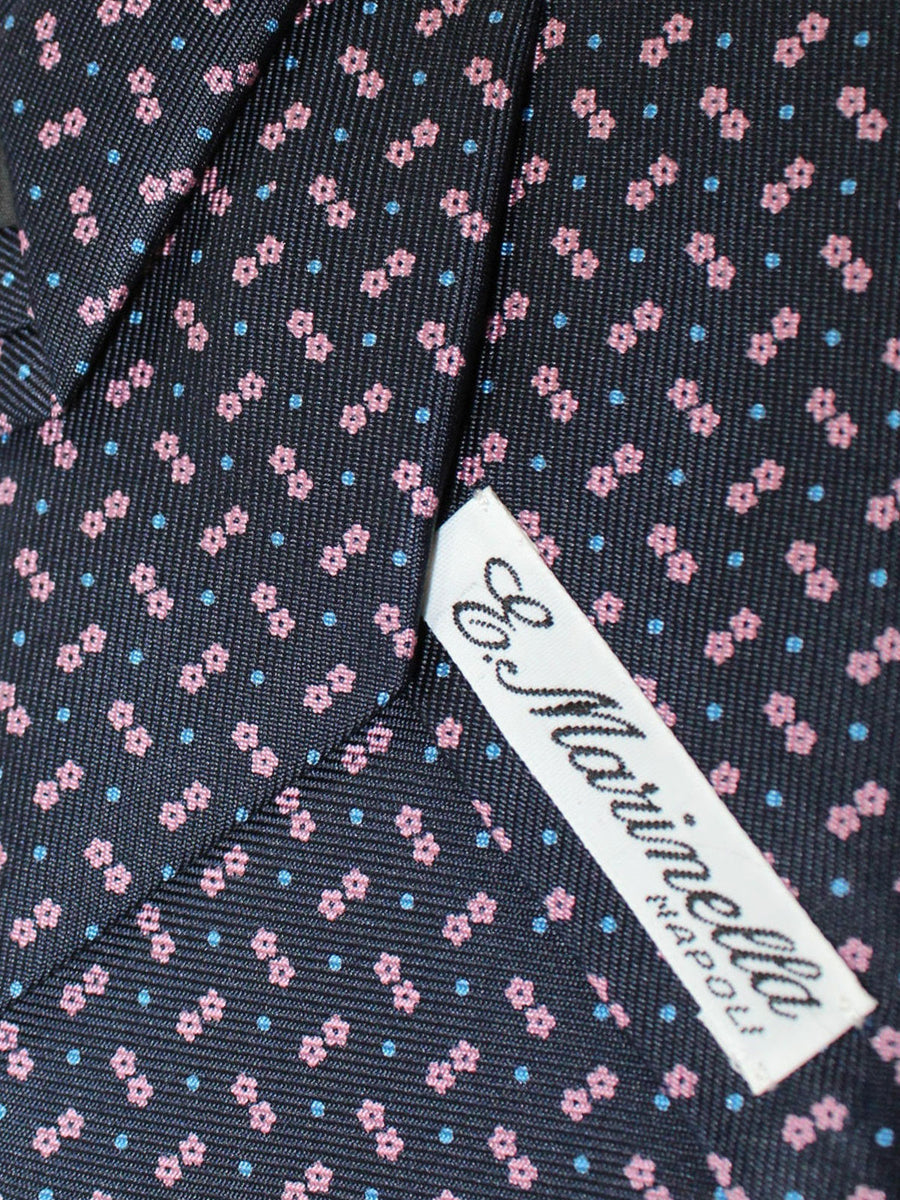 E. Marinella Tie Navy Pink Geometric Fall / Winter 2020 Collection