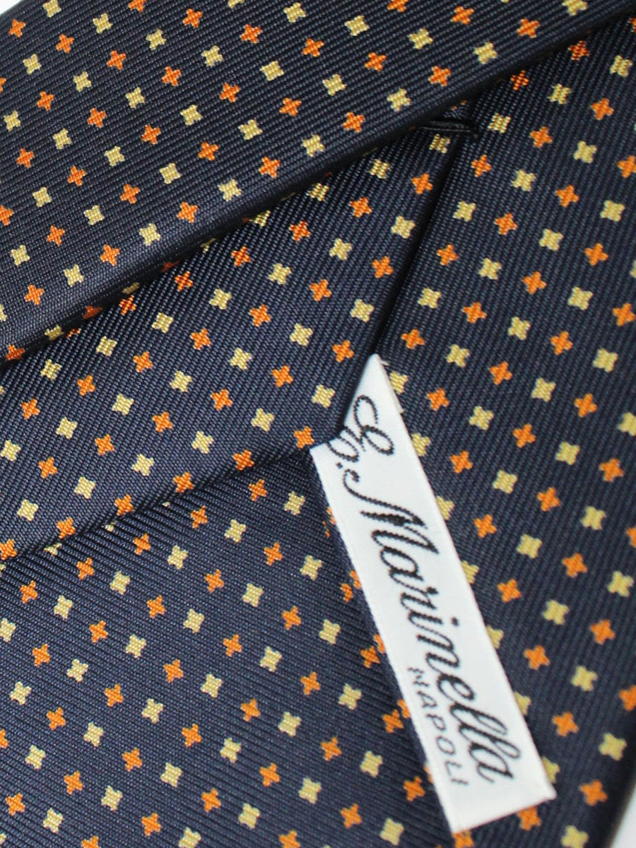 E. Marinella Tie Black Brown Gold Geometric Fall / Winter 2020 Collection