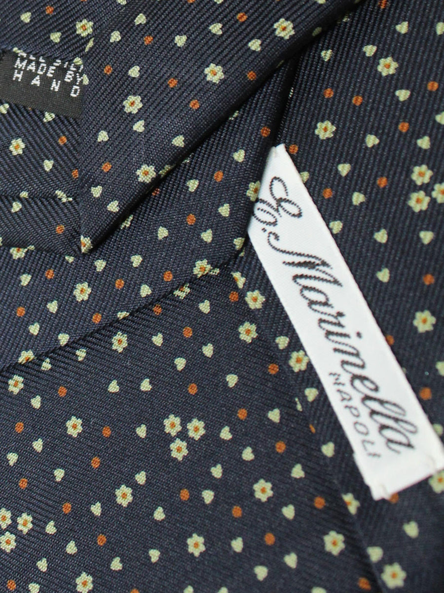 E. Marinella Tie Black Brown Lime Floral Fall / Winter 2020 Collection