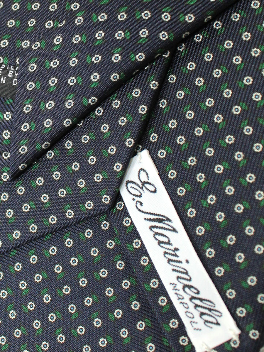E. Marinella Tie Dark Navy Green Silver Floral Fall / Winter 2020 Collection
