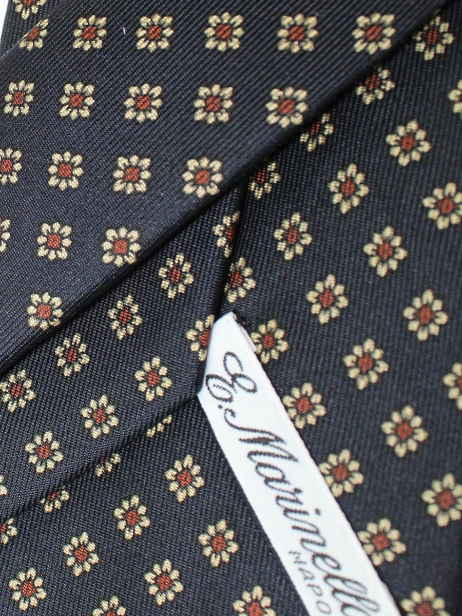 E. Marinella Tie Navy Brown Silver Floral Fall / Winter 2020 Collection