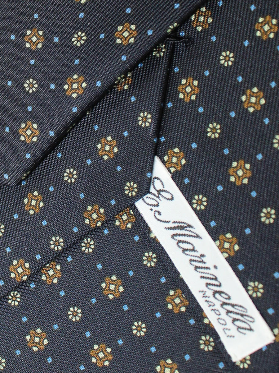 E. Marinella Tie Navy Brown Blue Geometric Fall / Winter 2020 Collection