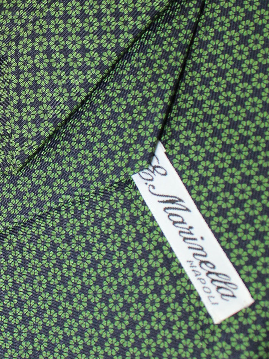 E. Marinella Silk Tie Navy Green Floral Fall / Winter 2020 Collection