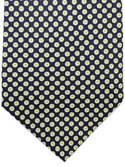 E. Marinella Silk Tie Navy Green Silver Polka Dots Fall / Winter 2020 Collection
