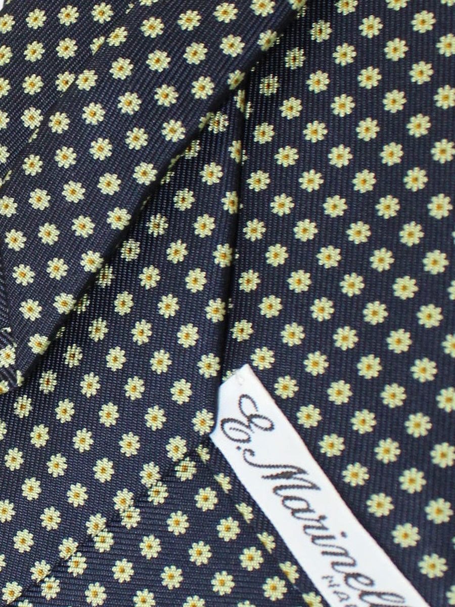 E. Marinella Tie Dark Navy Yellow Floral Fall / Winter 2020 Collection