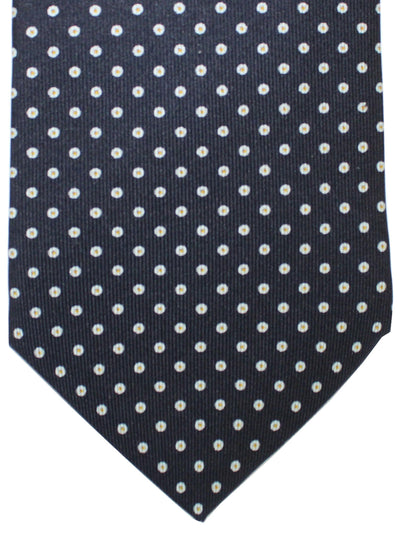 E. Marinella Tie Navy Silver Mustard Dots Fall / Winter 2020 Collection