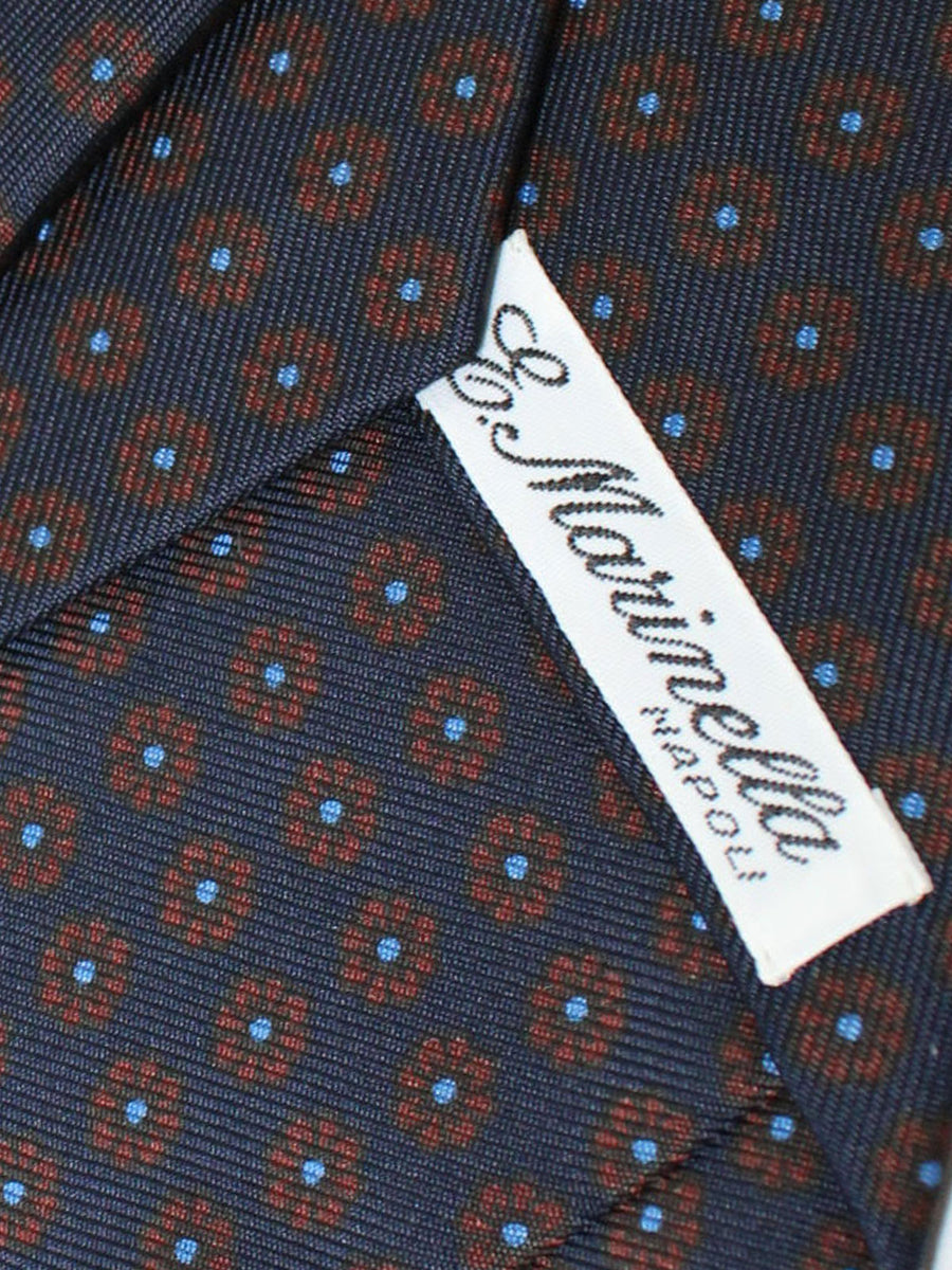 E. Marinella Tie Navy Brown Blue Floral Fall / Winter 2020 Collection