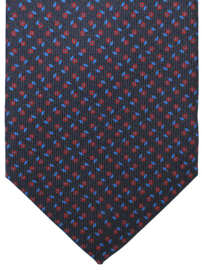 E. Marinella Tie Black Royal Red Geometric Fall / Winter 2020 Collection